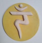 ceramique verre abstrait chakra plexus soleil feu : 3ième chakra = chakra du PLEXUS SOLAIRE