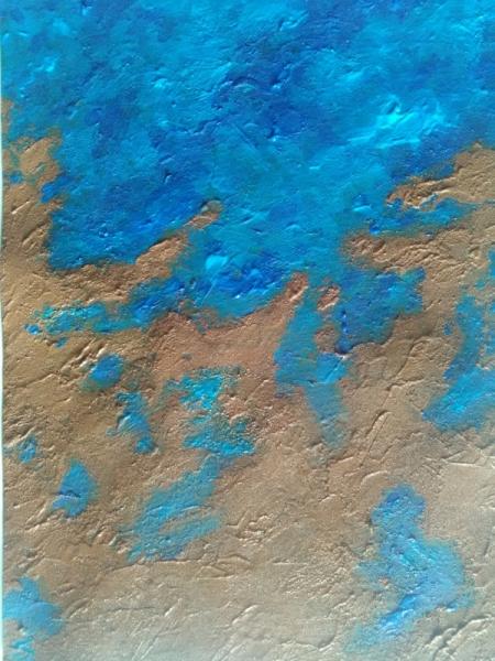 TABLEAU PEINTURE planète continent océan Europe Marine Acrylique  - Entre Terre et Mer…