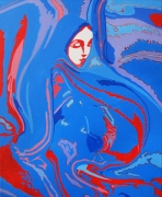 tableau divinite meditation femme religieuse : Mère Veilleuse