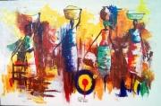 tableau personnages afrique benin cotonou aibatin : Les femmes africaines