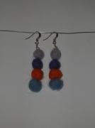 bijoux perles laine feutree boucles d oreil : En laine feutrée