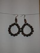 bijoux boucles d oreil perle en bois anneaux : Cercle en bois