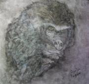 tableau animaux toile tableau acrylique gorille : gorille
