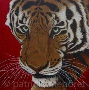 "tableau animaux tigre fauve animal felin : "" NADJA """