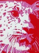"tableau animaux leopard animaux felin afrique : ""YAMINI"""