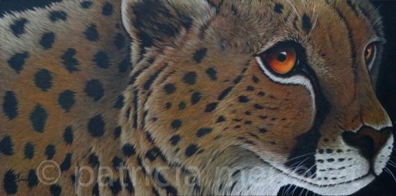 """TABLEAU PEINTURE animaux guépard fauve afrique Animaux Acrylique  - """"NEWT"""""""