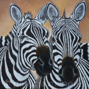 """tableau animaux zebre animaux afrique savane : """" TWIN """""""