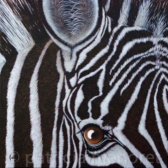 """TABLEAU PEINTURE zèbre animaux afrique animal Animaux Acrylique  - """" SWEENY """""""