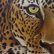 "tableau animaux animal leopard felin portrait : ""NAYAN"""
