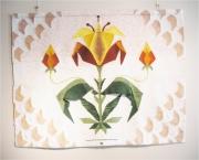 autres fleurs stylisation mosaique indienne : Le  Safran
