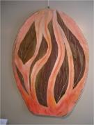 autres fruits ecorce rose noix brune tapisserie en form : la     Muscade