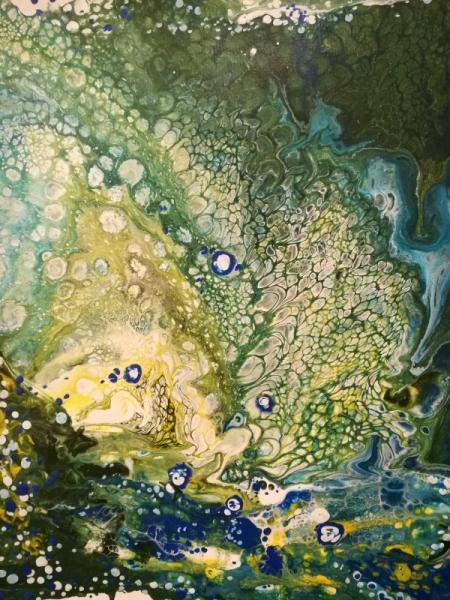 TABLEAU PEINTURE Riviere Fluidite Nature Abstrait Acrylique  - Rivière 1