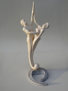 sculpture nus couple nu surrealisme baroque : ETERNITE