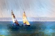 art numerique marine voiliers mer ports : De concert