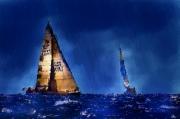 art numerique marine voiliers mer ports : Midnight blue