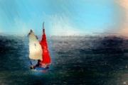 art numerique voiliers mer ports : En solitaire
