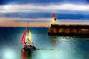 art numerique marine voiliers mer ports : Un autre départ