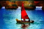 art numerique marine voiliers mer ports : Cabotage