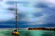 art numerique marine voiliers mer ports : Le retour