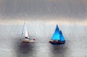 art numerique marine voiliers mer ports : Légère brume