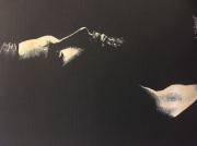 dessin personnages homme portait barbe noir : L homme sombre