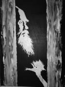 tableau personnages chine asie arts martiaux oiseau : Sixïang et sa grue