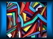 tableau abstrait mosaique abstrait monde enchevetrement : MOSAIQUE