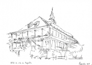 dessin : Hôtel de ville de Papeete