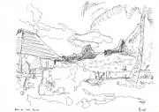 dessin : Baie de Cook Moorea