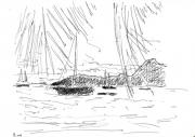 dessin : Au mouillage