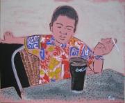 tableau : La chemise tahitienne