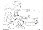 dessin : Musicien en savate