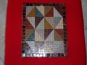 tableau autres mosaique avec des couleurs chaudes et triangulaire : TABLEAU SYMETRIQUE