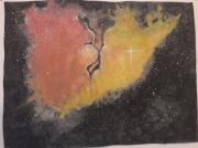 dessin abstrait univers cosmos espace nebuleuse : Cosmos tourmenté
