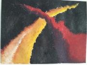dessin abstrait cosmos espace arche univers : L'arche cosmique