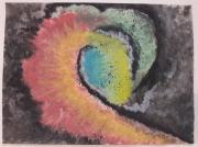 dessin abstrait cosmos espace univers multicolore : Tourment Interstellaire