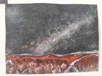 Vue de la voie lactée sur Mars