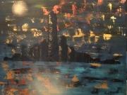 tableau abstrait : Automne à Manhattan