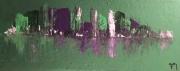 tableau abstrait manhattan ville vert : Manhattan
