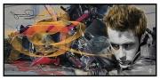art numerique evenement : Porshe accidentée de James Dean
