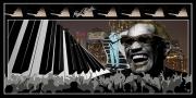 art numerique personnages de legen : Ray Charles en concert