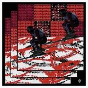 art numerique : Skieur art abstrait