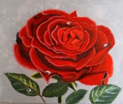tableau fleurs fleur rose rose rouge tableau fleur tableau rose : Tableau fleur rose