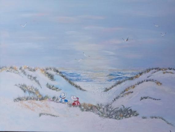 TABLEAU PEINTURE tableau bord de mer tableau marine tableau paysage tableau chambre Marine Acrylique  - Tableau bord de mer