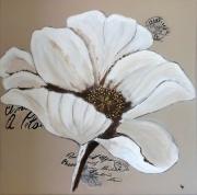 tableau fleurs fleur fleur blanche deco murale deco florale : Fleur blanche