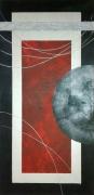 tableau abstrait tableau peinture acr tableau abstrait tableau peinture tableau argent noir : Lune