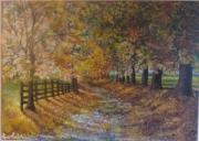 tableau paysages paysage automne feuilles mortes : l'automne