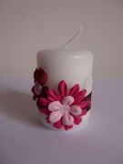 deco design fleurs bougie creation cadeau original : bougie