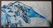 tableau paysages mont blanc montagne aiguille du midi : Mont Blanc