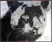 tableau animaux panthere felin : Panthère
